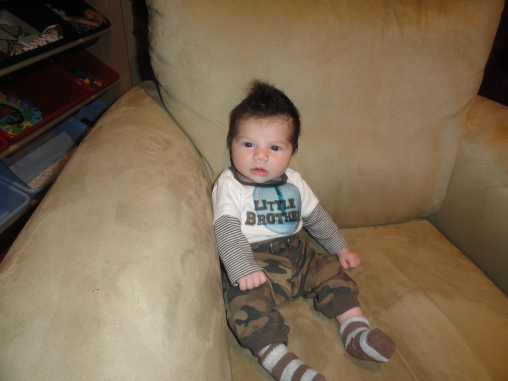 1 month 1 1024x768 Wordless Wednesday: Zane throughout his first year!