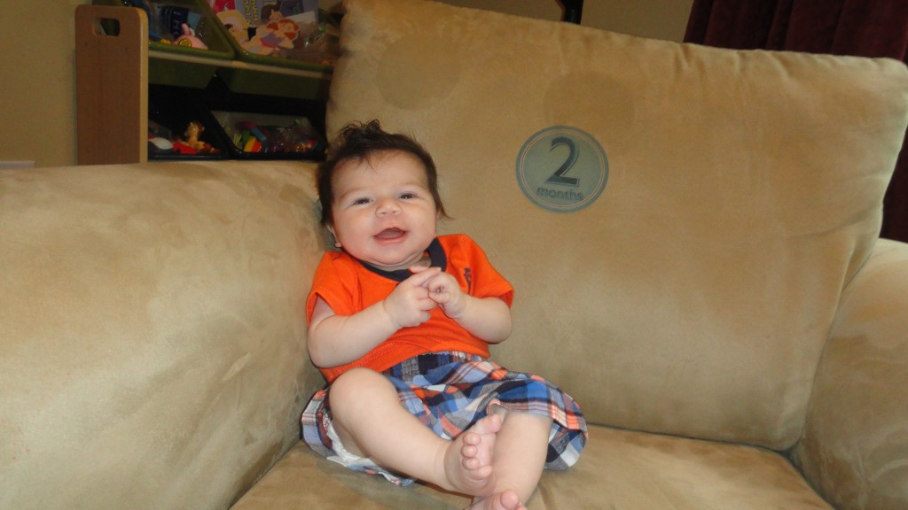 2 months 1024x576 Wordless Wednesday: Zane throughout his first year!