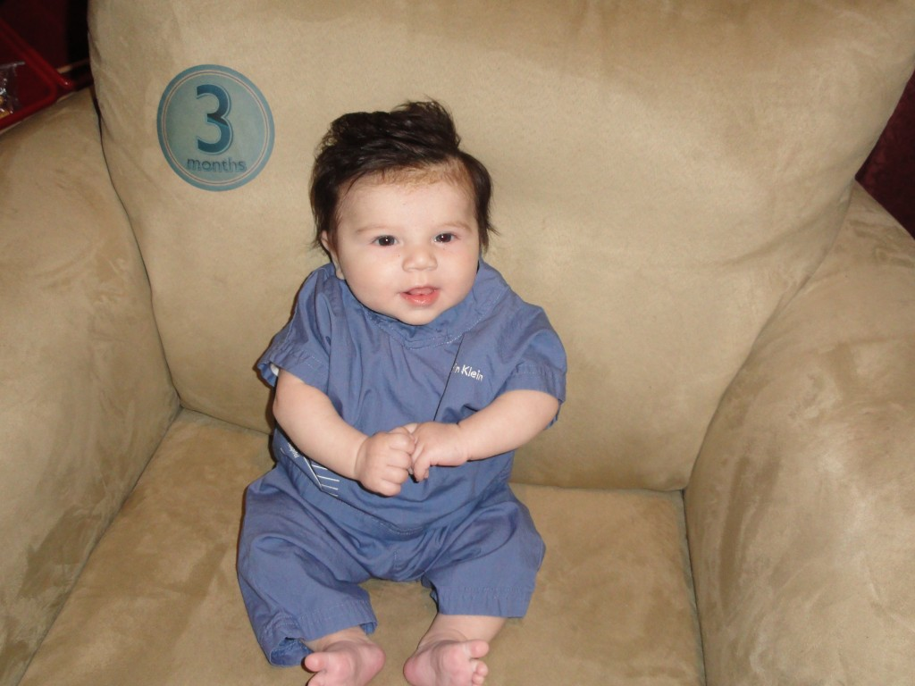 3 months 1024x768 Wordless Wednesday: Zane throughout his first year!