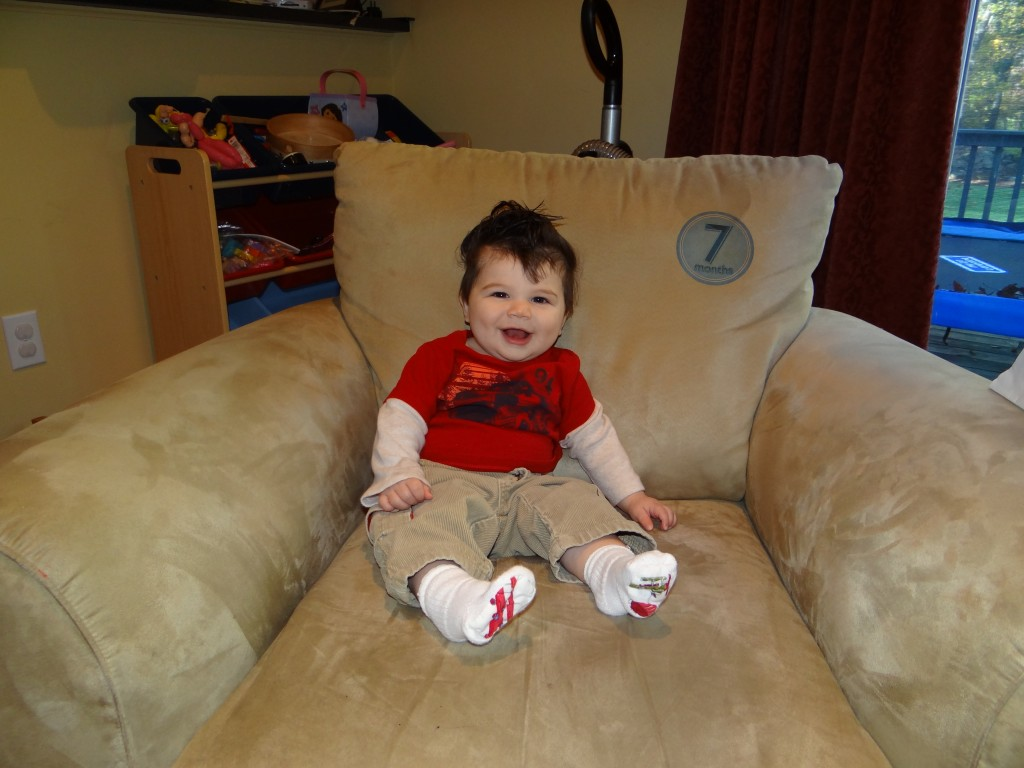 7 months 1024x768 Wordless Wednesday: Zane throughout his first year!