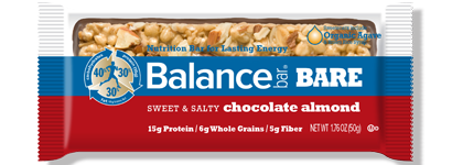 bar bare sweet and salty chocolate almond large Fathers Day Giveaway: Balance Bars and Oxywater Review Giveaway!
