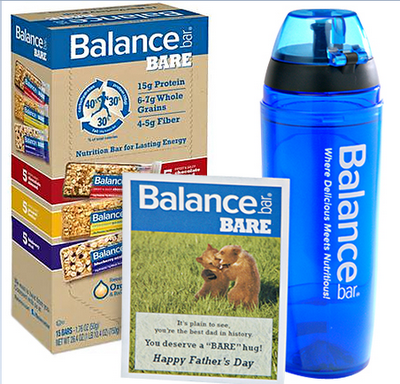 bare Fathers Day Giveaway: Balance Bars and Oxywater Review Giveaway!