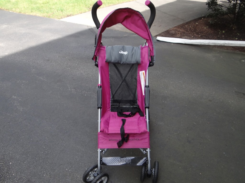 DSC05760 1024x768 Jeep Wrangler All Weather Reclining Umbrella Stroller Review/Giveaway!