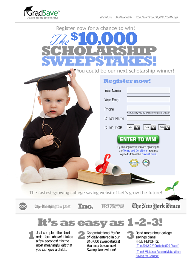 10000 sweepstakes edits v1 GradSave $10,000 Sweepstakes