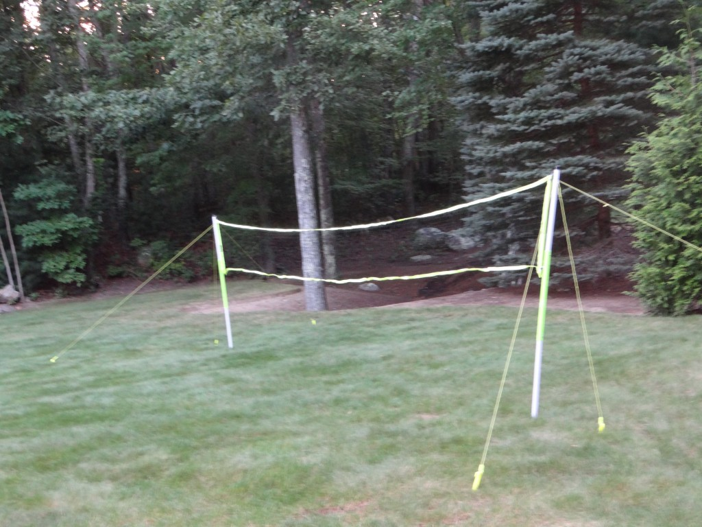 DSC05988 1024x768 Franklin Badminton Set, Bean Bag Toss, Target Toss Outdoor Games Review Giveaway!
