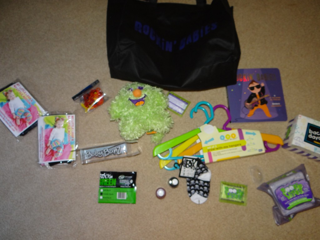 DSC06341 1024x768 Rockin Babies Amazing Swag Gift Bag (ARV: $200) Review Giveaway!