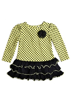 Print Knit Dress Size 2T 4T Yellow Polka Dot Y2UdK 275 413 pad Carters Watch the Wear Kids Clothing Review Giveaway!