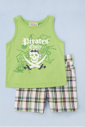 Two Piece Pirate Tank Toddlers Green 7p0s0 275 413 pad Carters Watch the Wear Kids Clothing Review Giveaway!