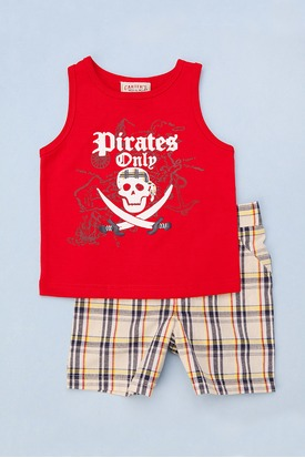 Two Piece Pirate Tank Toddlers Red W1fLP 275 413 pad Carters Watch the Wear Kids Clothing Review Giveaway!