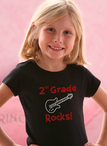 tshirt girls grade rocks Just Jen Personalized Rhinestone Back to School Shirt!