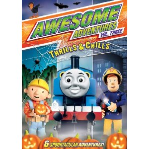 61HKKGZpCkL. SL500 AA300  Thomas the Train (2 DVD set), Barney, and Awesome Adventures Review Giveaway