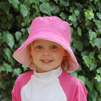girl in fun hat Flap Happy Hat Review Giveaway!