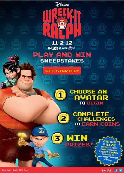image001 1 Wreck It Ralph Sweepstakes and a New Clip!!