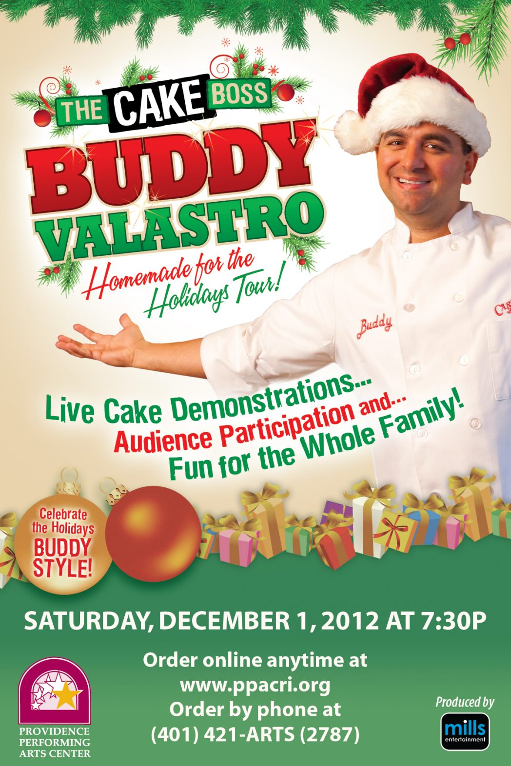 Buddy Valastro Live! (Cake Boss) Homemade for the Holidays Tour at PPAC- 2 pack GIVEAWAY!