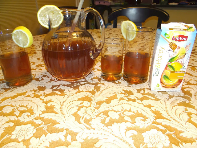 DSC080581 Having our Family Meals with Lipton Tea and Honey Pitcher Pack #FamilyTeaTime #Cbias