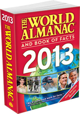 WA Cover 3D The World Almanac and Book of Facts 2013