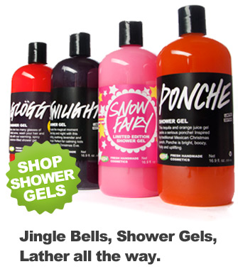 shower gels en Lush Fresh Handmade Cosmetics Review Giveaway!