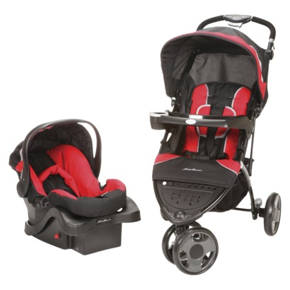 14097379 Eddie Bauer Trail Hiker, 3 Wheel Travel System (car seat/stroller) Review Giveway!