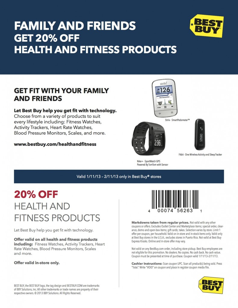BestBuy Coupon 2013Jan HealthFitness 2 791x1024 Doing my Small Appliance Shopping at Best Buy This Winter!