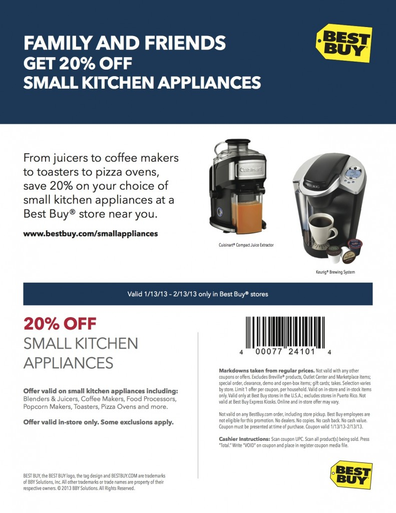 BestBuy Coupon 2013Jan SmallAppliances v2 1 791x1024 Doing my Small Appliance Shopping at Best Buy This Winter!