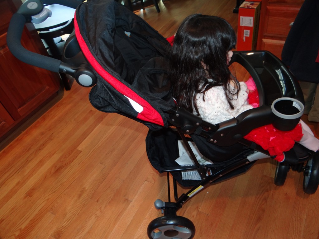 DSC09111 1024x768 Eddie Bauer Trail Hiker, 3 Wheel Travel System (car seat/stroller) Review Giveway!