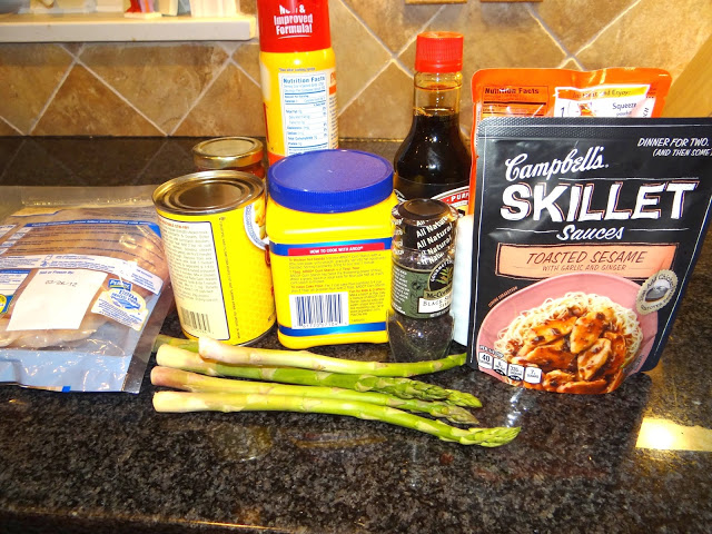 DSC09181 Sesame Chicken Stir Fry Over Rice  Love the Campbells Skillet Sauces #dinnerin15 #Cbias