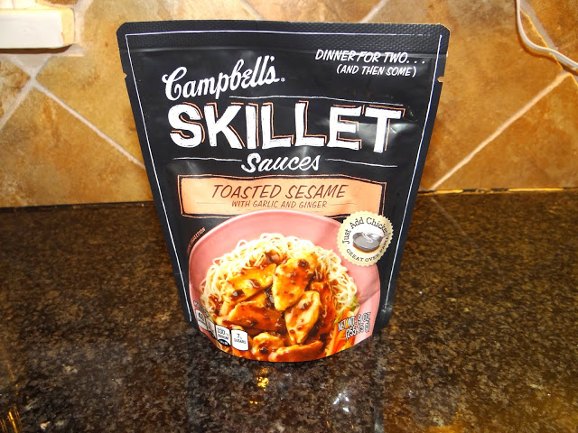 DSC091921 Sesame Chicken Stir Fry Over Rice  Love the Campbells Skillet Sauces #dinnerin15 #Cbias