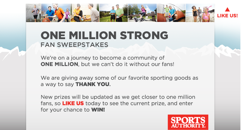 OMS Sign Up Sports Authority and One Million Strong!!