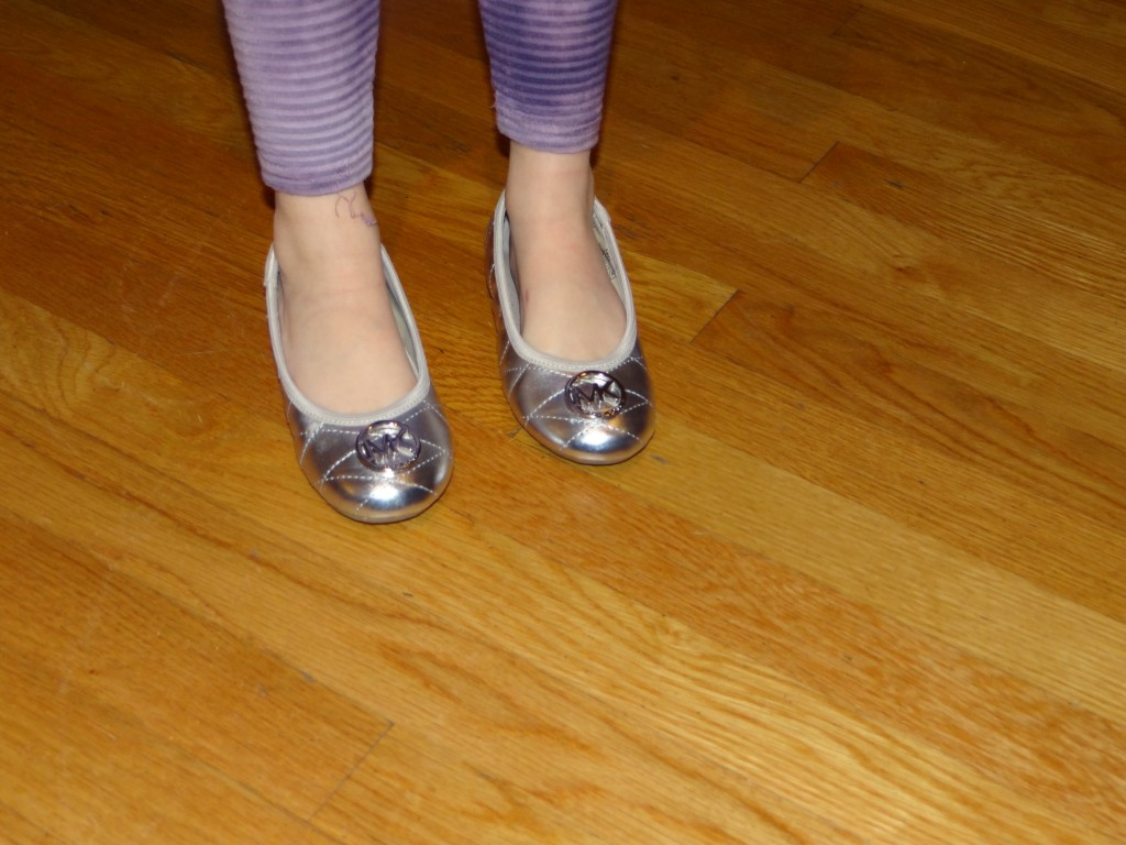 DSC09500 1024x768 Michael Kors Girls Ballet Flats Review Giveaway