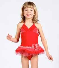 Isobella and Chloe Tallulah Red Halter Skirted Swimsuit for Toddlers and Girls medium Bunnies Picnic (Girls Boutique Clothes) Review and $50 Clothing Giveaway!
