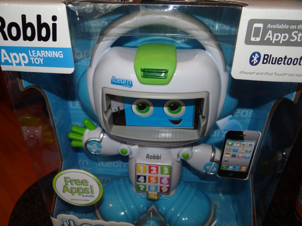 DSC09640 1024x768 iLearn N Play Robbi Robot Review Giveaway!