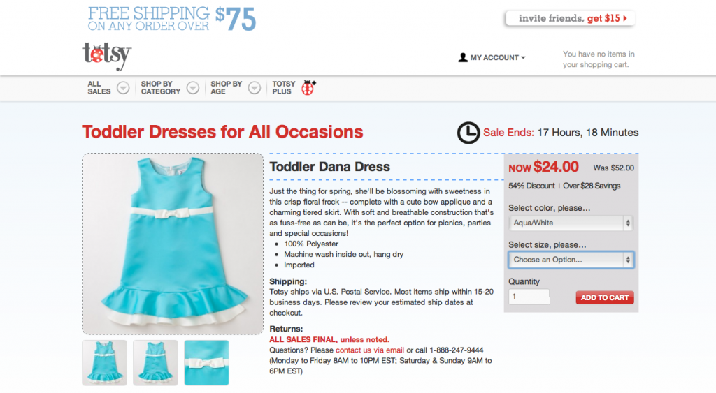 Screen Shot 2013 03 18 at 2.41.30 PM 1024x563 Doing Some Online Retail Shopping for the Perfect Girl Graduation Dress at Totsy and Zulily! #cbias