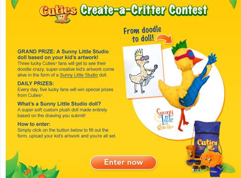 image001 Cuties First Art Show: Create a Critter Contest!