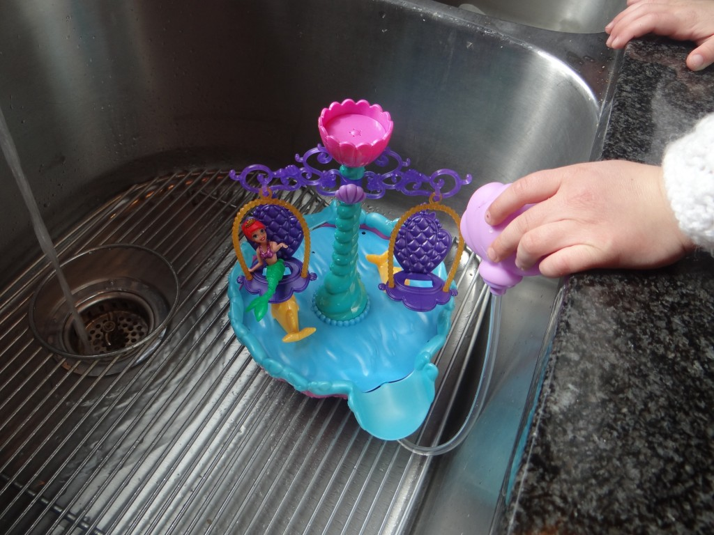 DSC00527 1024x768 Mattel Disney Princess Ariels Floating Fountain Review Giveaway!