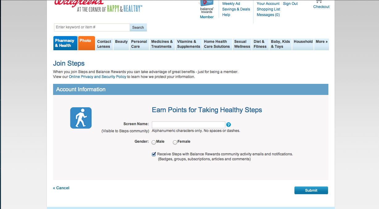 Screen Shot 2013 04 13 at 9.00.07 AM I am Getting Healthy with the Steps With Balance Rewards Program at Walgreens! #BalanceRewards #cbias