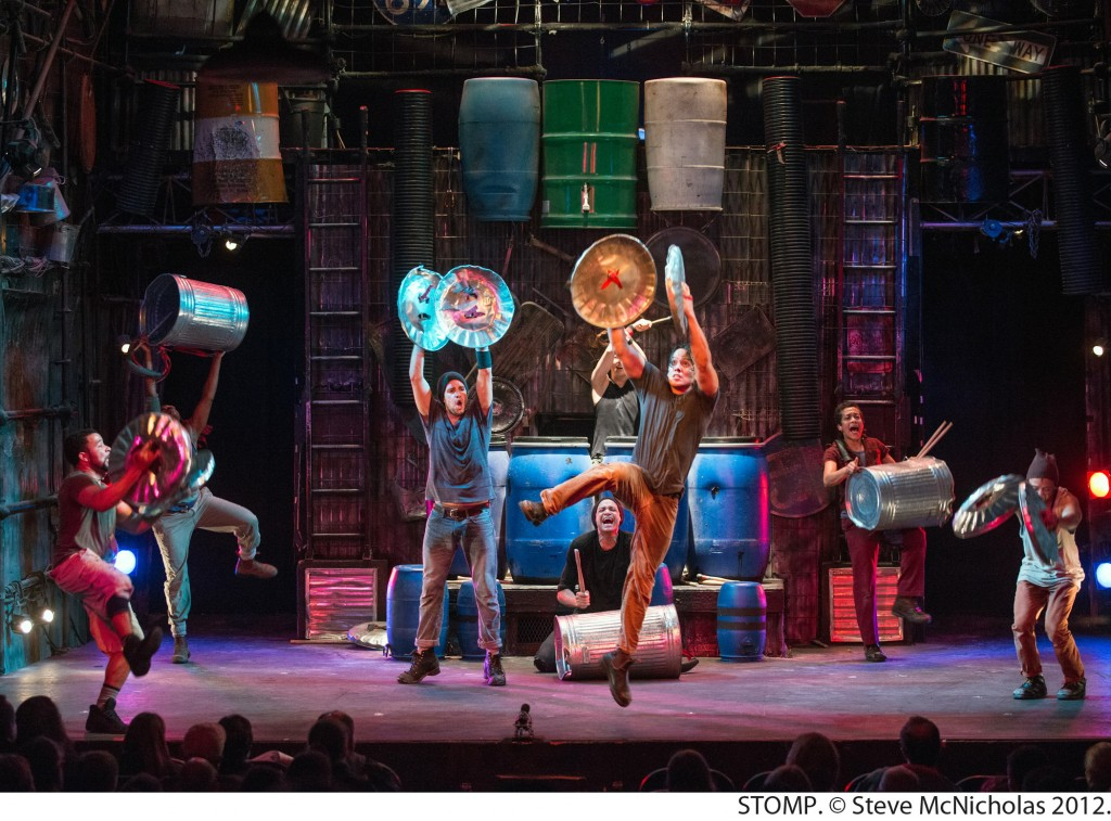 NYBinsLeap5x7 1024x757 STOMP is coming to the PPAC, #RhodeIsland  4 pack ticket GIVEAWAY!