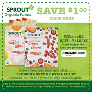 3626 Sprout Toddler Snacks Review and a Sprout Giveaway! #SproutFoods