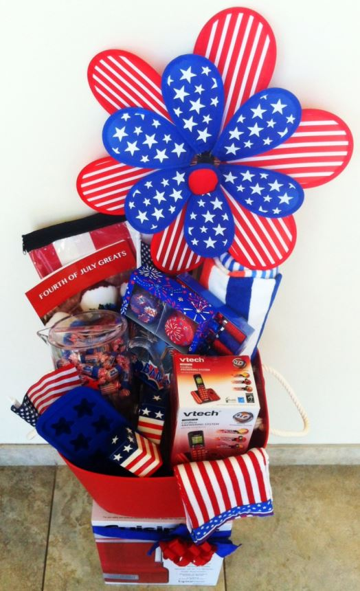4th of July Basket Celebrate 4th of July with a HUGE VTech Giveaway!!! (phone, ice cream maker, etc  $300)