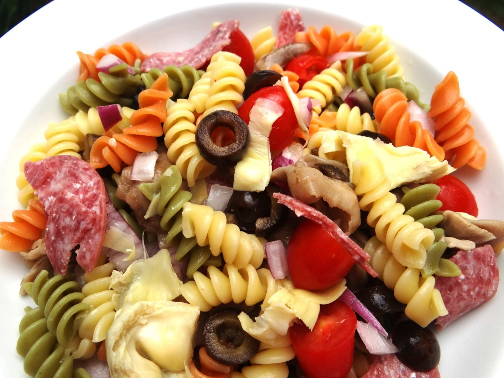 DSC015211 1024x768 Summer Pasta Salad with Tyson Sliced Salami! #WhatsYourTopping #cbias