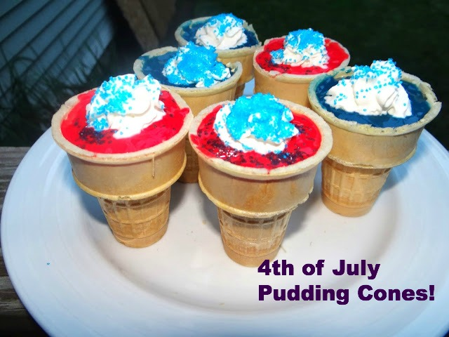 DSC018691 Red, White, and Blue Pudding Cones with #Lactaid
