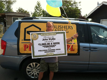 "Publishers Clearing House- ""Win $5,000 A Week Forever"" Sweepstakes"
