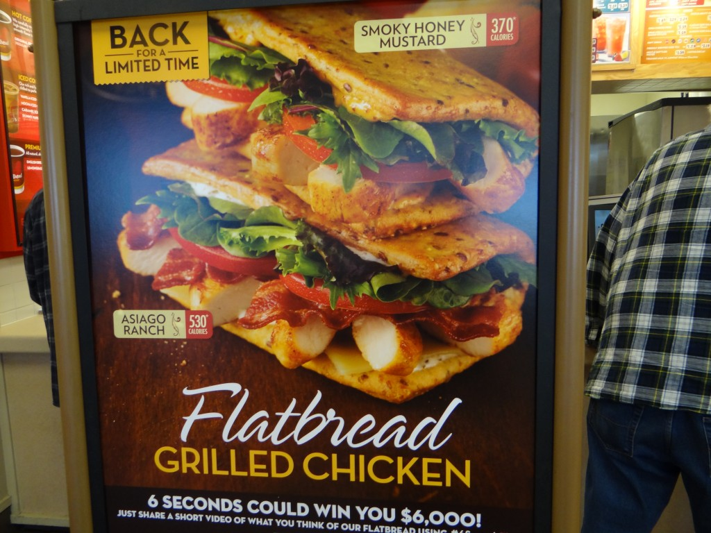 DSC04111 1024x768 Wendy's Chicken Flatbread sandwiches are AMAZING and #6SecondsFlat Sweepstakes!