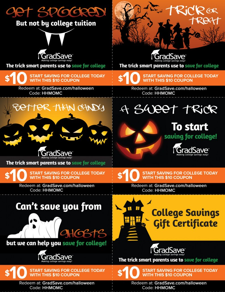 HHMOMC color 791x1024 GradSave gift cards this Halloween! Print out and Give the Sweet Gift of Education!