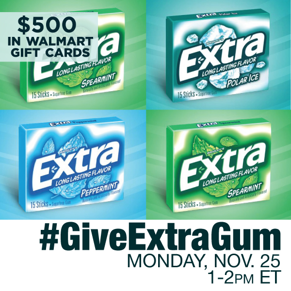 GiveExtraGum Twitter Party 11 25 copy Join me at the #GiveExtraGum Twitter Party 11 25 1 2 PM