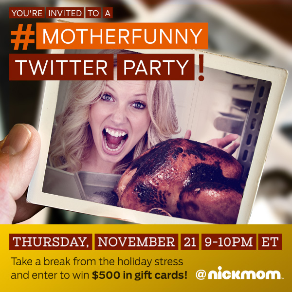 Motherfunny Twitter Party 1121 Join me at the #MotherFunny Twitter Party! 11/21 9 PM EST!
