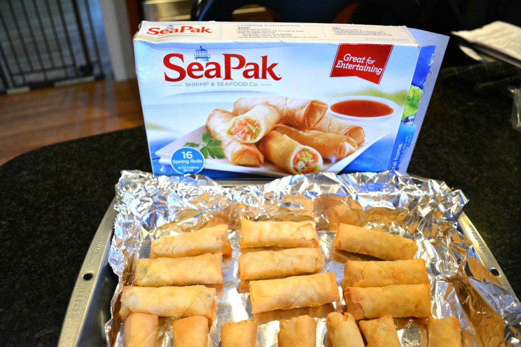DSC 0156 1024x682 Richs SeaPak Shrimp Spring Rolls with Sweet/Sour Sauce are Perfect for Holiday Appetizers!  #PakTheParty #cbias #shop