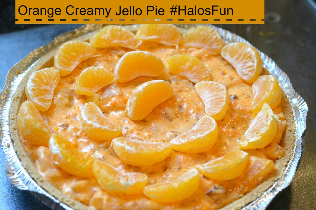 DSC 0381 1024x682 Orange Creamy Jello Pie Using Halos Mandarins! #HalosFun