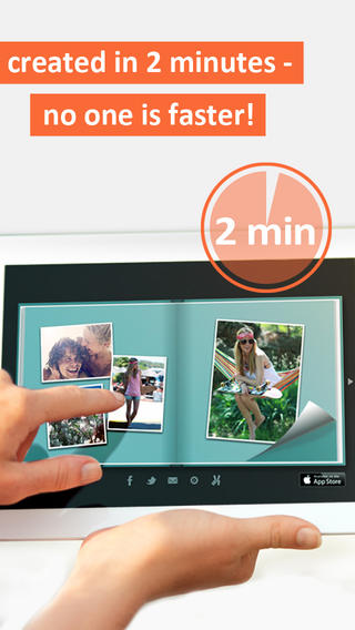 The PhotoBook App allows you to create digital photo albums, postcards or calendars