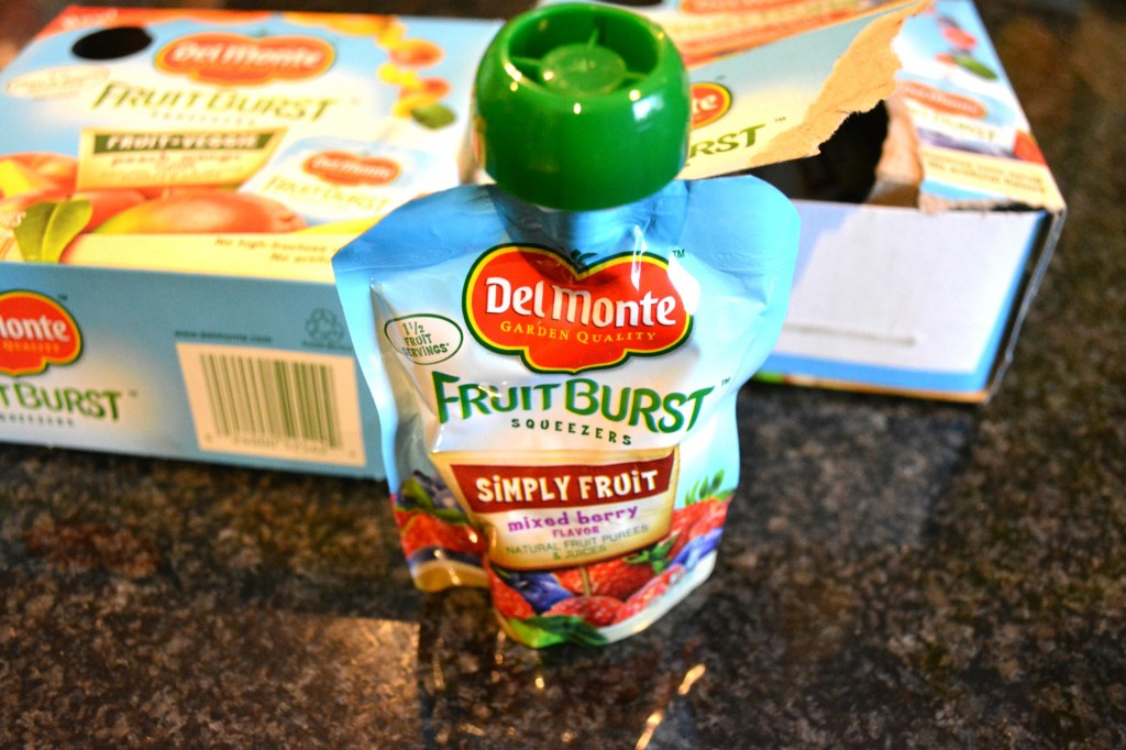 DSC 0918 1024x682 Del Monte® Fruit Burst® Squeezers and Mango Pineapple Fruit Cup® Snacks Review and $25 Walmart GC Giveaway!