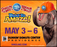 0 1 Ringling Bros & Barnum Bailey Circus is now showing at the Dunkin Donuts Center, RI!